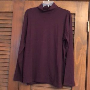 Ribbed Mock Neck Top NWT
